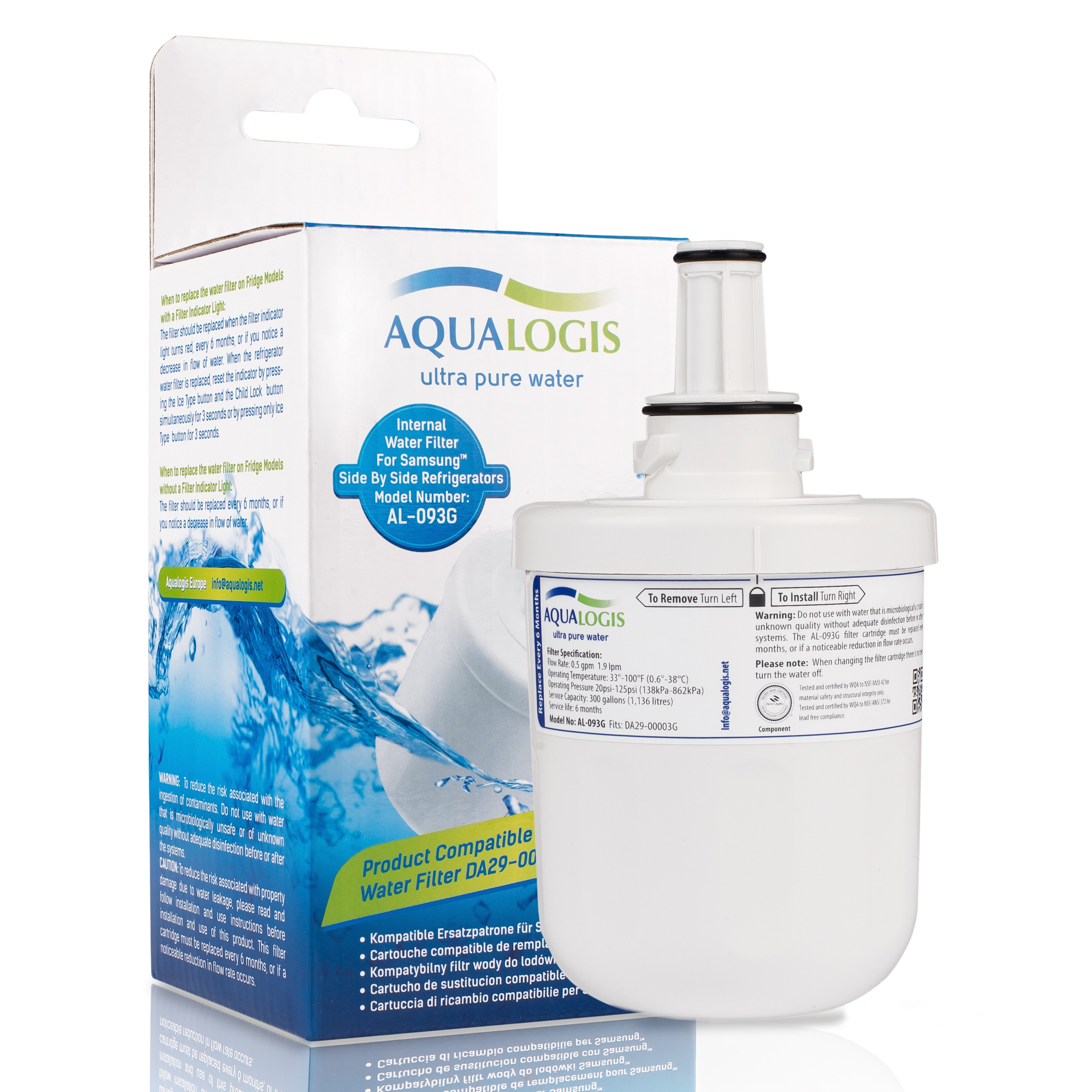 Samsung DA29-00003G HAFIN2/EXP American Style Water Refrigerator Filter  AL-093G